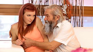 DADDY4K Stud catches daddy fingering his girl and joins