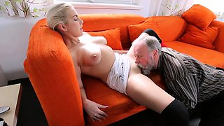 Naked russian blonde bombshell gets fucked good