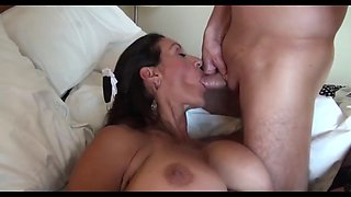 Sexy mature maid gets fucked by younger guy