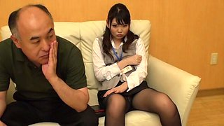 Good looking secretary with hairy pussy being dicked by her boss