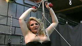 BBW slave ass spanking