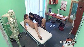 Lesbian fuck with nurse in hospital