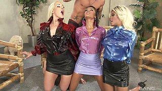 Stunning Alyssa Divine and her friend need only one stiff dick