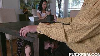 Stepdaughter Aliya Brynn Blows her STEPDAD with Jackie Rogen