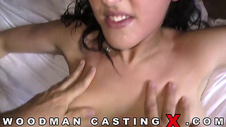 Sexy Babe Laure Double Penetrated in a Gangbang With Three Studs