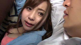 Hottest Japanese chick in Amazing JAV censored POV, College scene