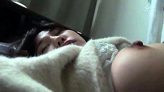 Sleeping Asian teen with big boobs gets fucked and creampied