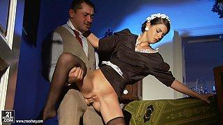 Beautiful Brunette Jessyka Swan Fuckin as a Maid