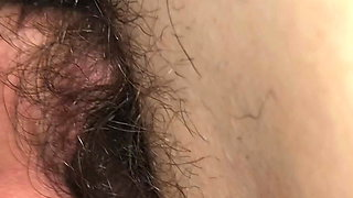 Eating my wife's hairy pussy and she comes in my mouth so good