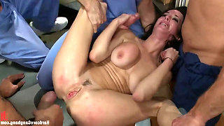 There is No Cure Of Legendary MILF Veronicas Anal Gangbang Addiction