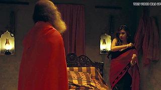 Jealous Desi hubby pays Pandit Ji to fuck his wife
