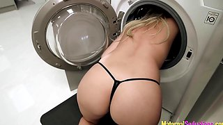 Step Mom is Stuck in the Dryer and Fucked by her Son - Nikki Brooks
