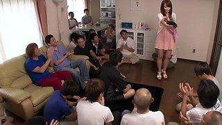 Hottest Japanese model in Horny HD, Bukkake JAV video