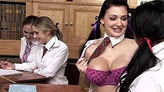 Amazing pornstars Amanda Bleack, Aletta Ocean and Julia Crow in horny masturbation, lingerie sex movie