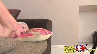 FakeAgentUK: Creampie casting for blonde British chick