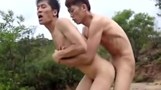 hawt chinese homo sex outdoors