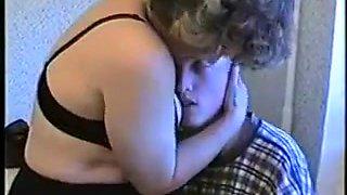 Russian mom martha with her drunk boy