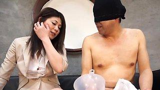 CFNM video with cute Torii Miki having feet fetish sucking a dick