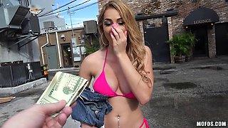 Big boobs Czech babe screwed for money