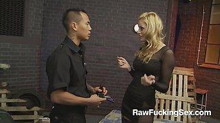 Raw Fucking Sex - Party Slut Chloe Conrad Fucks An Asian Cop