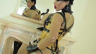 Sexy womens femdom latex big Boobs
