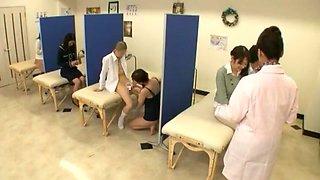 Exotic Japanese girl Hitomi Honjou, Yuna Shiina in Incredible Swallow/Gokkun, Handjobs JAV scene