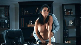 fucking a perfect mommy with huge boobs in the office