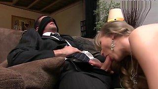 Black Stockings BAMBOLA Hard Sex On Sofa