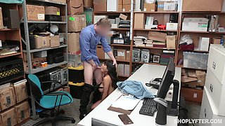 Latina babe Aryana Amatista forced to fuck at the office and gets cum