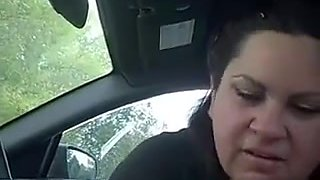 Some Other cook jerking in my car from the cum loving whore ally ..this babe likes cum