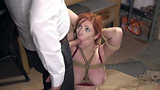 Dirty Lauren Phillips being punished before getting fucked hard