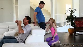 Caught jerking off by playmate's step daughter Seducing My