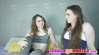Trans Stripper Cherry Mavrik Joins For Bareback Threeway