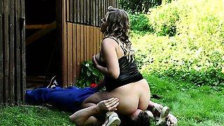Sweet chubby Lenka gets wild during rough facesitting sex