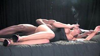 Hot Babe Smoking take a BBC