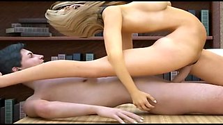 New 3D babe in office