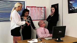 Cfnm brits in office