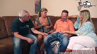 German Homemade Mature Swinger Party