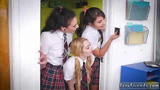 Teen lesbians on bus After School Detention