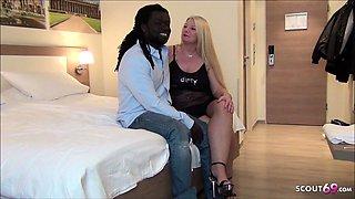 German Wife Love to Fuck interracial BBC when Husband away