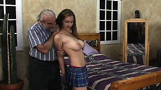 Young babe endures harsh treatment on her pussy and mangos