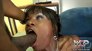 WCP Club Sexy Ebony Creampie enjoys BBC