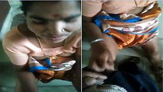 Today Exclusive-Desi Telugu Maid Give Handjob...