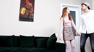 Alita Angel comes to Kastiel Cherry's apartment and gets fucked
