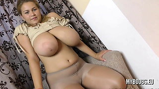 BBW with big Tits and Pantyhose