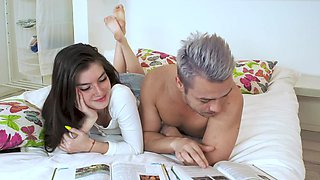 Russian babe receives cum in mouth after sex - Stefany Kyler