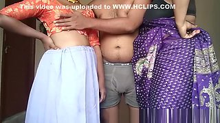 Asian Desi Indian Mom and Daughter Group sexy Romantic Porn Video.
