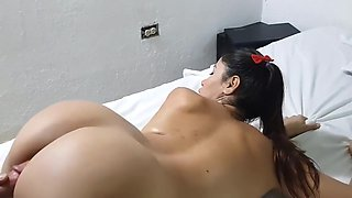 Latina Stepdaughter try to fuck her step daddy using her ass with Kimmy Granger, Kim Kardashian and Lana Rhoades