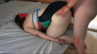 French brunette MILF pounded doggystyle