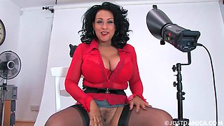 Amateur video of dirty mature Danica Collins having solo fun